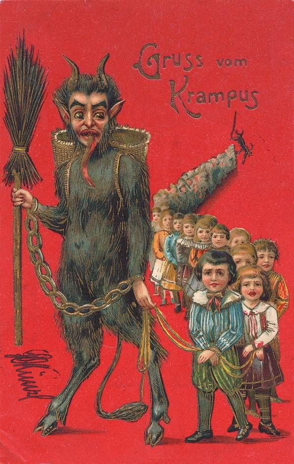 Krampus The Devil of Christmas greeting cards - Boing Boing