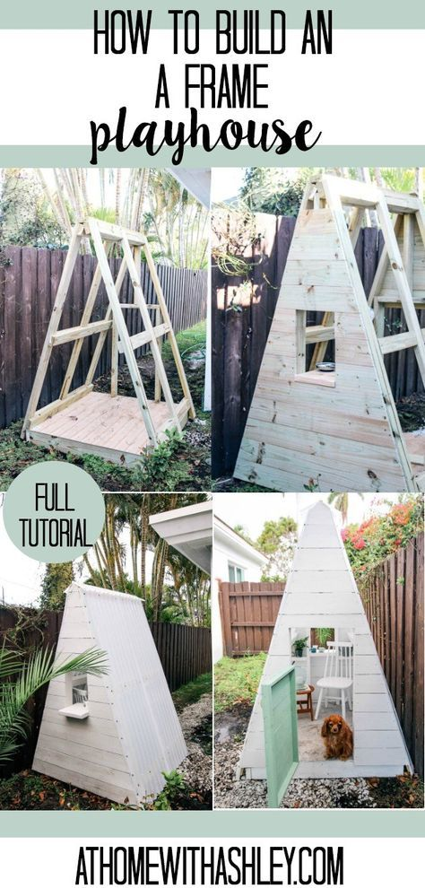 DIY A-Frame Play House images