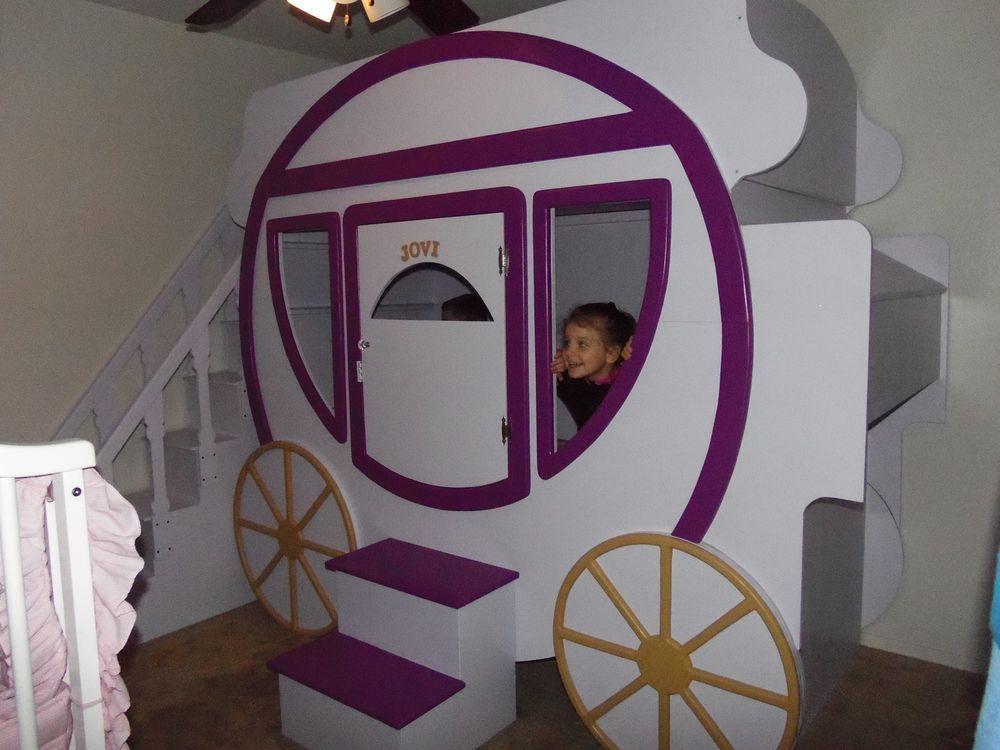 Cinderella Carriage Princess Jovi Bunk Bed Castle Bed Castle Bed