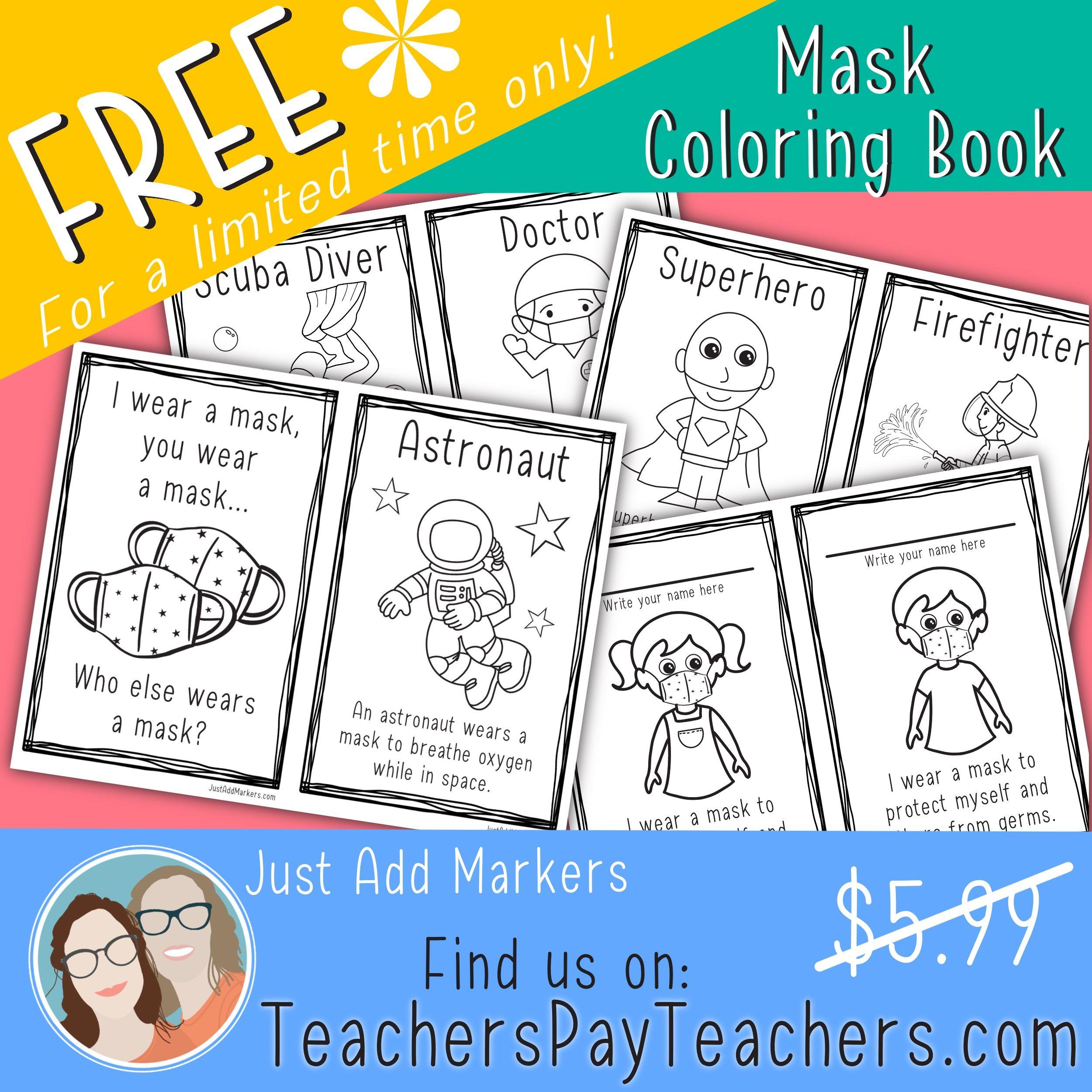 Who Wears A Mask Mini Book Coloring Books Mini Books How To Wear