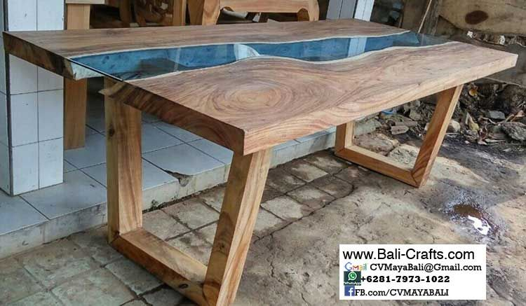 Glass Table Teak Wood From Bali Indonesia Bali Furniture Teak Wood Bali Indonesia