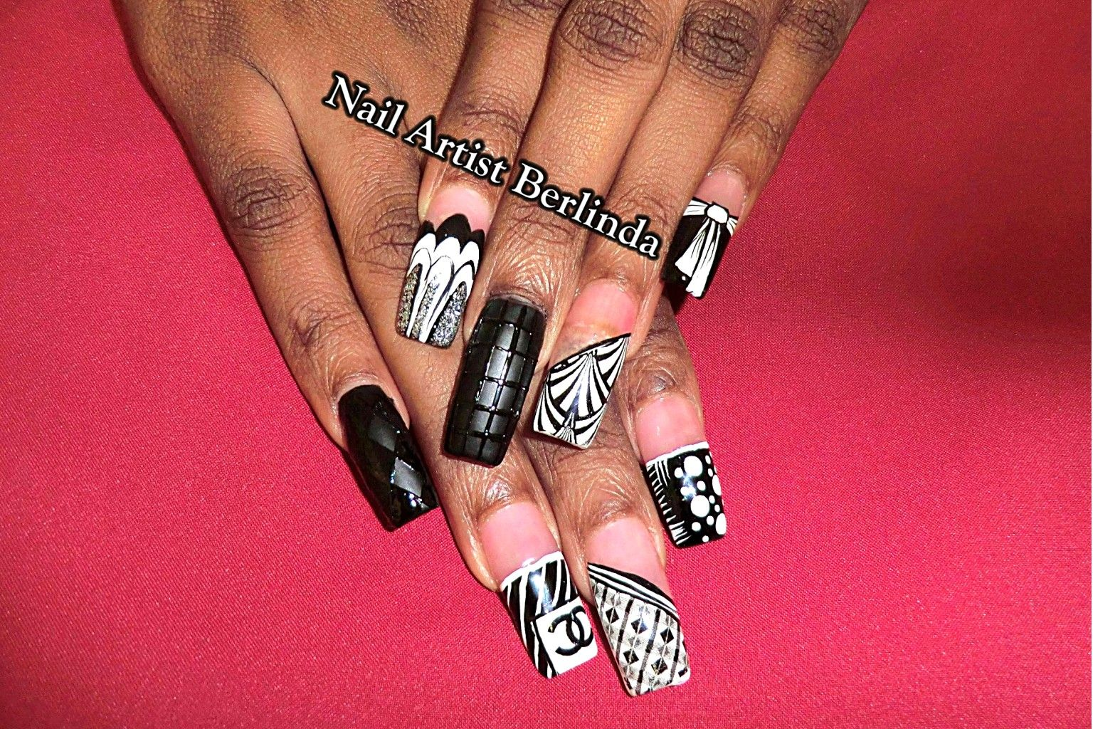 Black and White at www.nailartistberlinda.com | Extravagant Nail Art ...