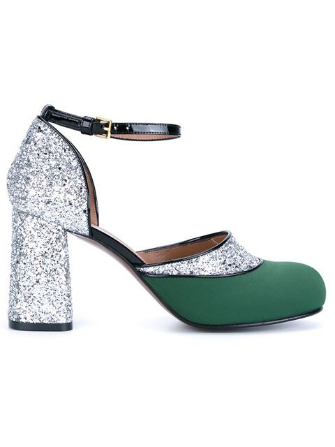 Shop Marni glitter Mary Jane pumps in Browns from the world's best  independent boutiques at farfetch