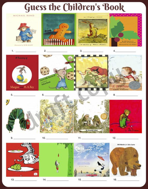 Baby Shower Game Guess The Childrenu0027s Book By 31Flavorsofdesign