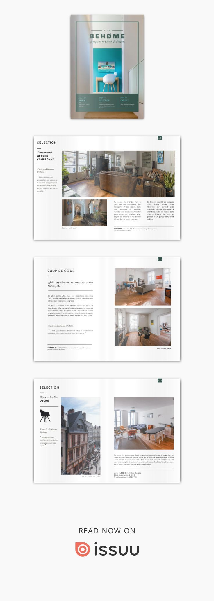 BEHOME (avec images) Mise en page, Magazine