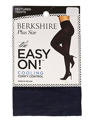 e544da42370ac Berkshire The Easy On Diamond Texture Plus Size Tights Navy Queen Petite --  You can find out more details at the link of the image.