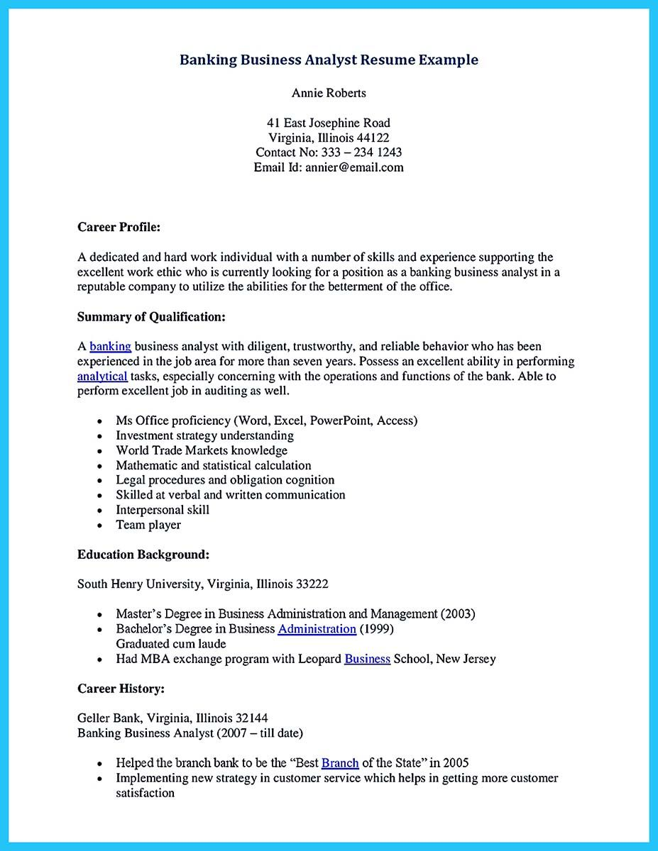 Banking resume examples are helpful matters to refer as