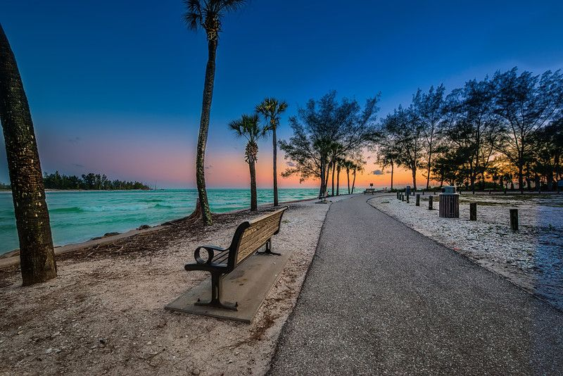 This Is A Shot Of The Walkway To Coquina Beach On Anna Marie Island In Florida Favorite Tourist And Locals As Water Turquoise