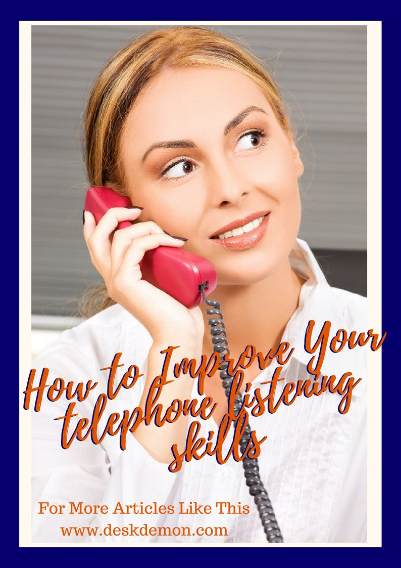 How to improve your telephone skills communications