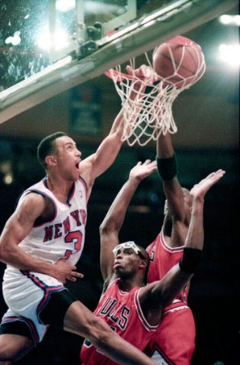 newest b9de6 aaffa John Starks dunking.. On MJ