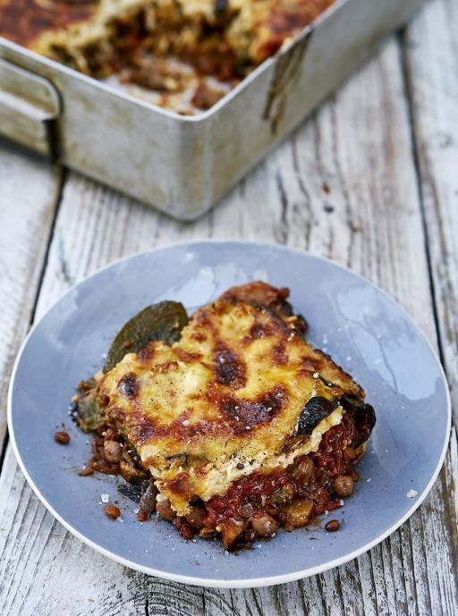 Vegetarian moussaka recipe | Jamie Oliver aubergin