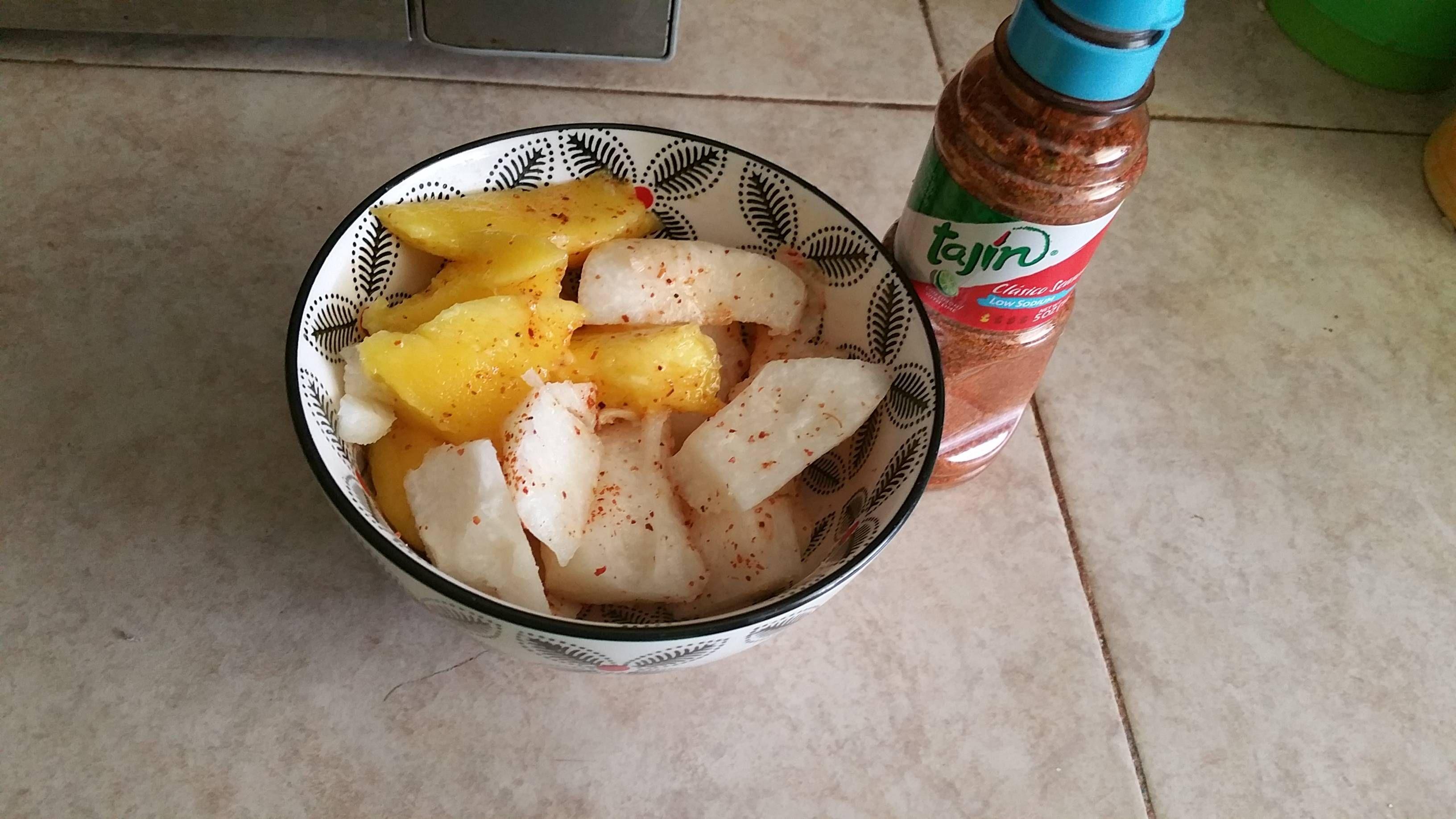 Jicama Mango And Tajin 130 Calories Goodnutrition Physicalactivity Goodfood Vegetables Juiceplus Healthymeal Healthyf Healthy Snacks Jicama Nutrition