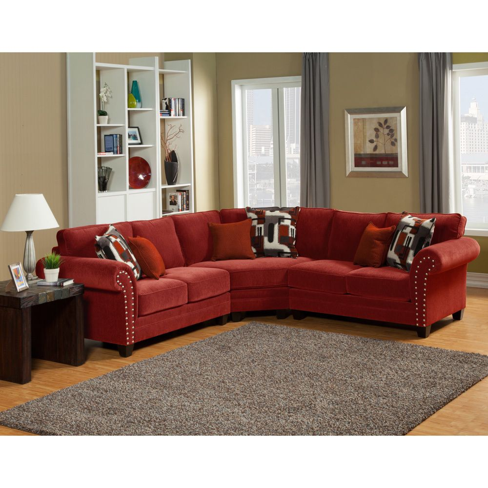 Furniture Of America Essence Chenille Sectional Sofa Overstock