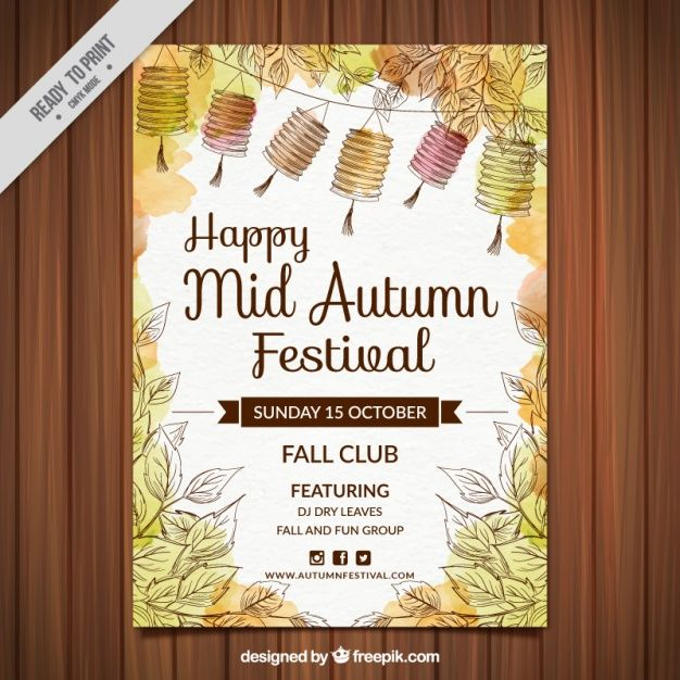 Watercolor happy mid autumn festival poster free vector lmps bl watercolor happy mid autumn festival poster free vector stopboris Images