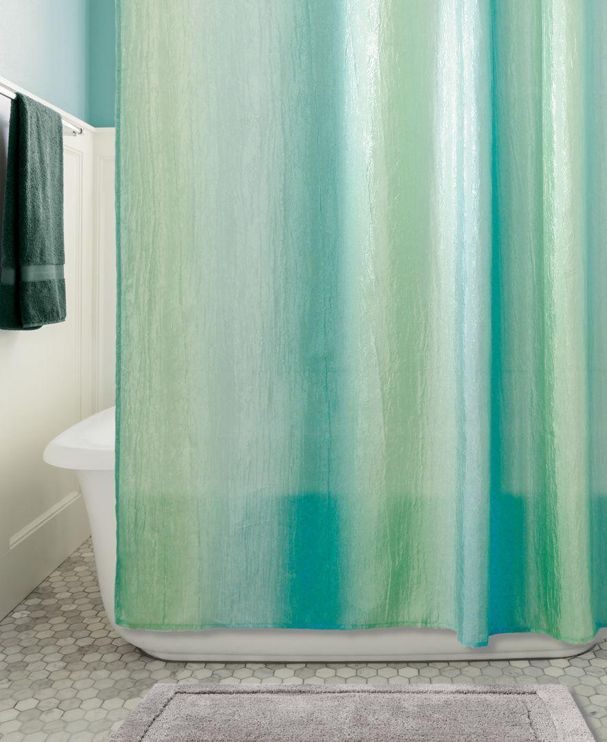 Interdesign Ombre Textured 54 X 78 Shower Curtain Ombre Shower