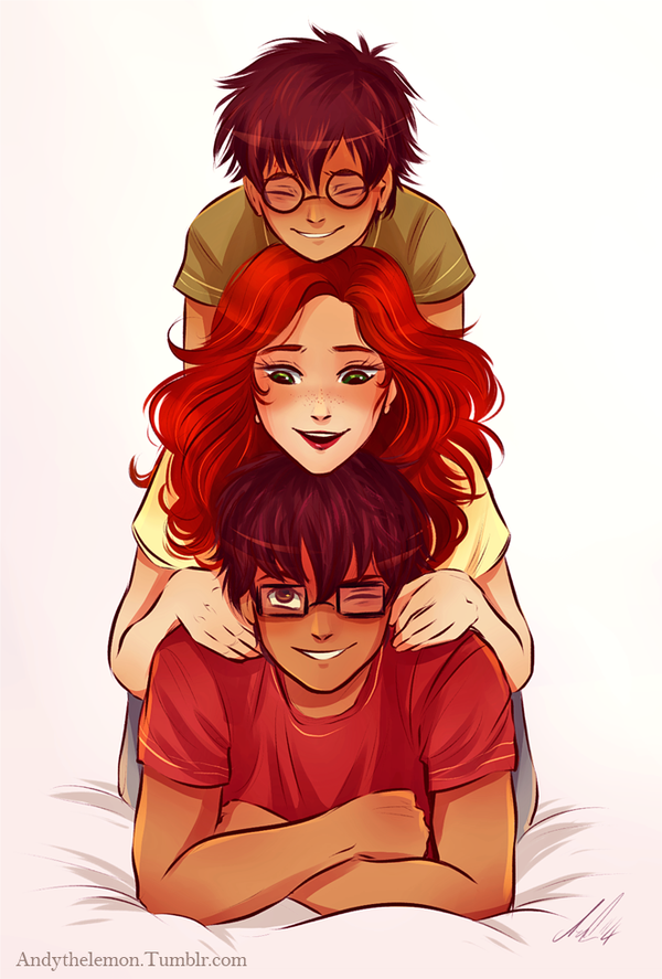 James Lily and Harry. If they lived. The Potters by AndytheLemon on deviantART
