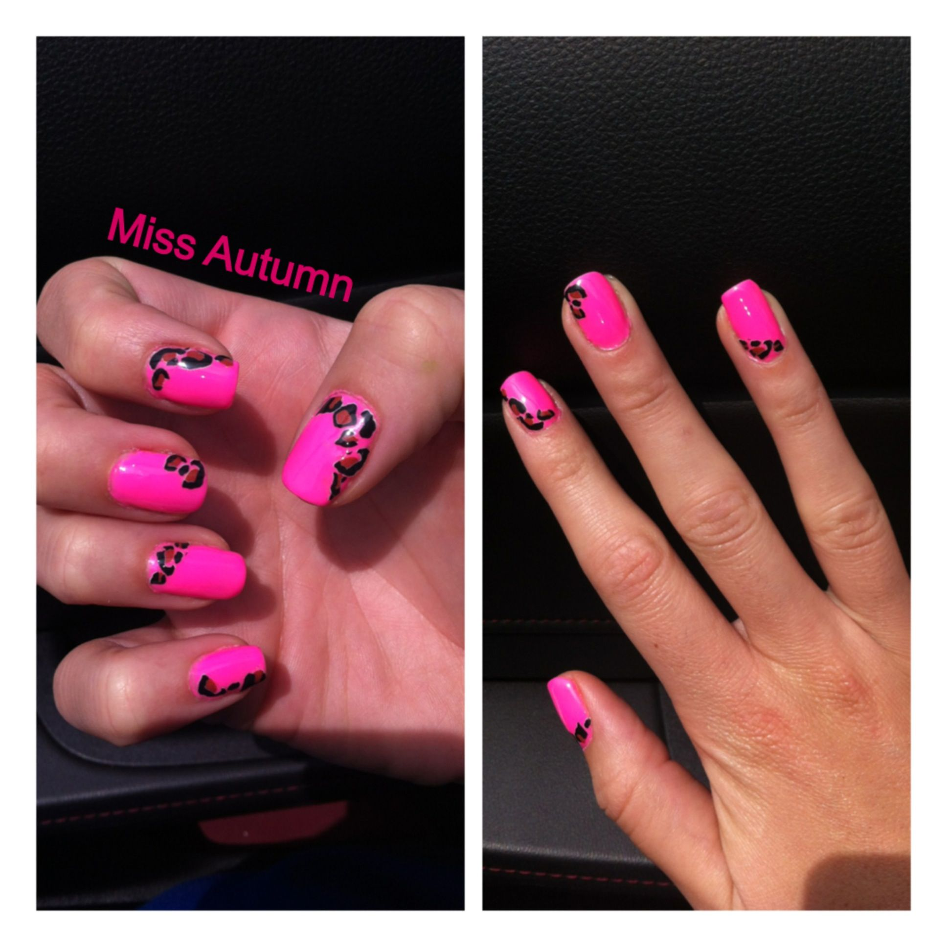Perfect neon pink! I think the leopard stickers add a little glam. I ...