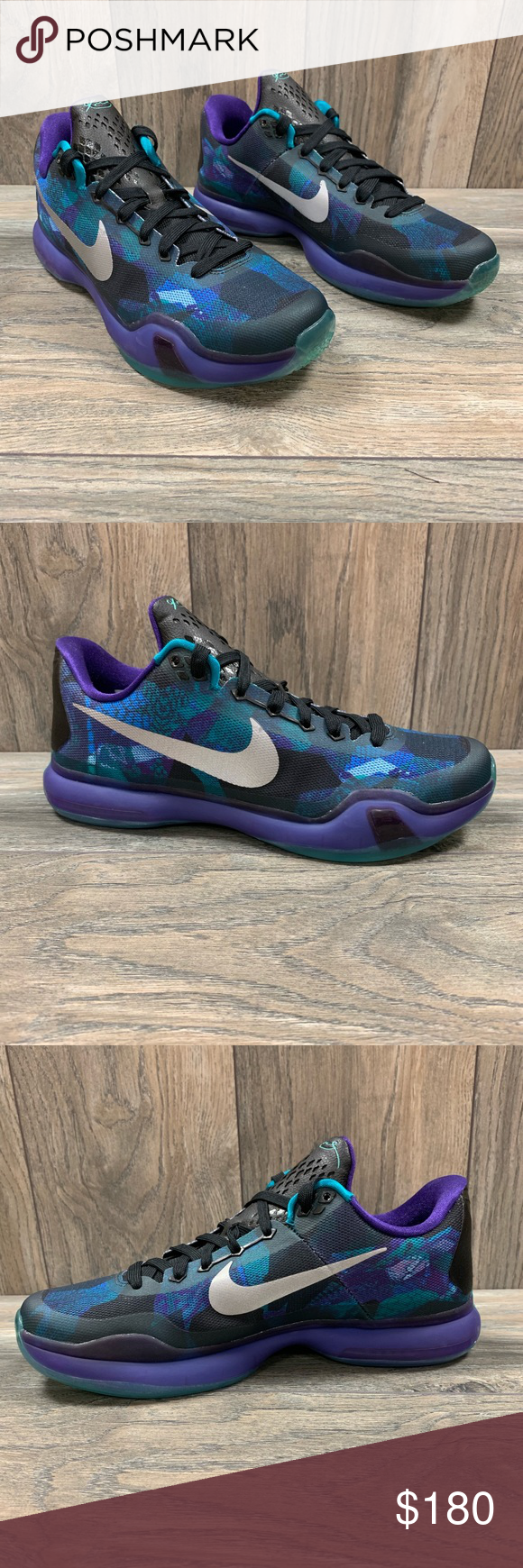 c2a4799271e ... Nike Kobe X Overcome Emerald Purple Basketball Shoes New without box  705317-305 Release date  8 27 2015 Colorway  emerald glow  reflect silver    court ...