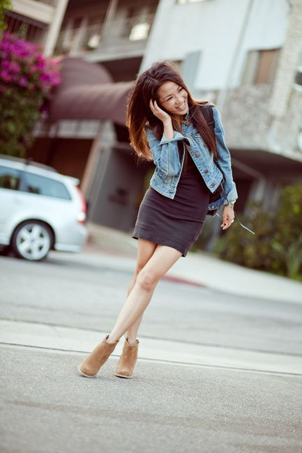 DRESSES WITH ANKLE BOOTS | Jeans & Beans :: Tank dress & Suede ...