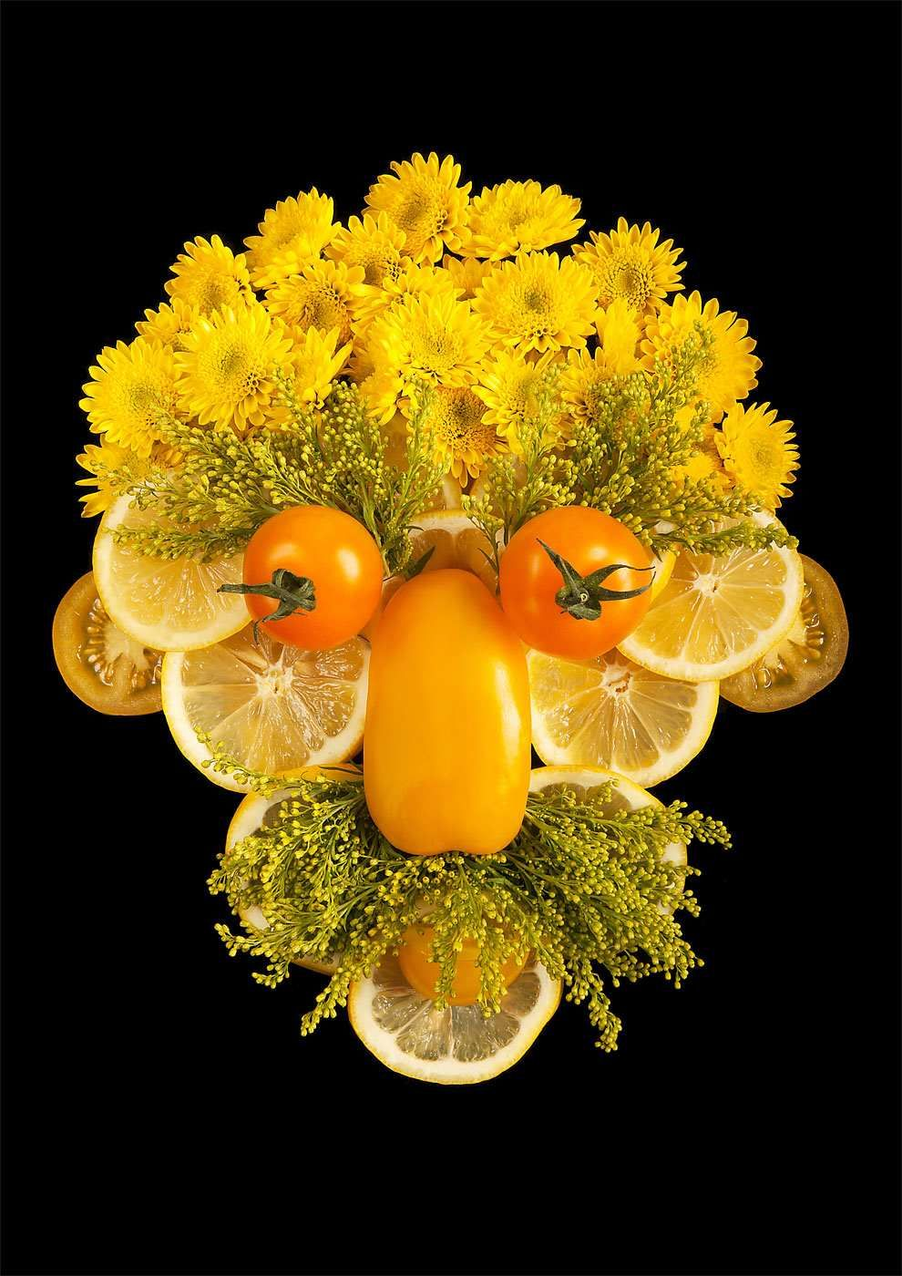 Fresh Faces Made From Organic Food by Emily Dryden & Zahydé Pietri #inspiration #photography