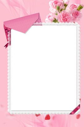 Mothers Day Envelope Simple Carnation