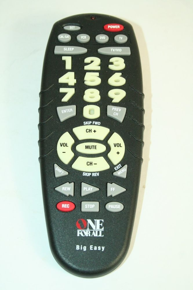 One For All Big Easy Universal Remote Control Urc 4330b03
