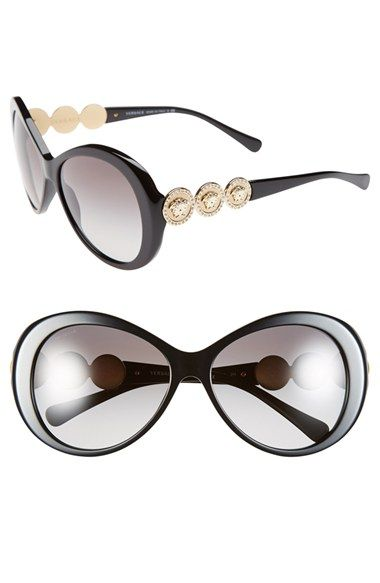 My Versace's were stolen! I havn't had a pair like them ever since :( Versace 58mm Round Sunglasses available at #Nordstrom