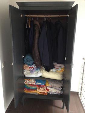 Ikea Kleiderschrank Dielenschrank Farbe Grau Massiv Holz In