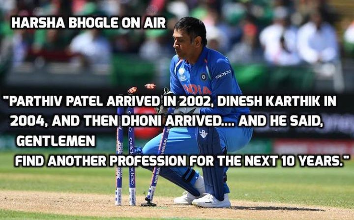 Harsha Bhogle About Ms Dhoni During Commentary For More Cricket Fun Click Http Ift Tt 2gy9biz Http Ift Latest Cricket News Cricket News Dhoni Wallpapers