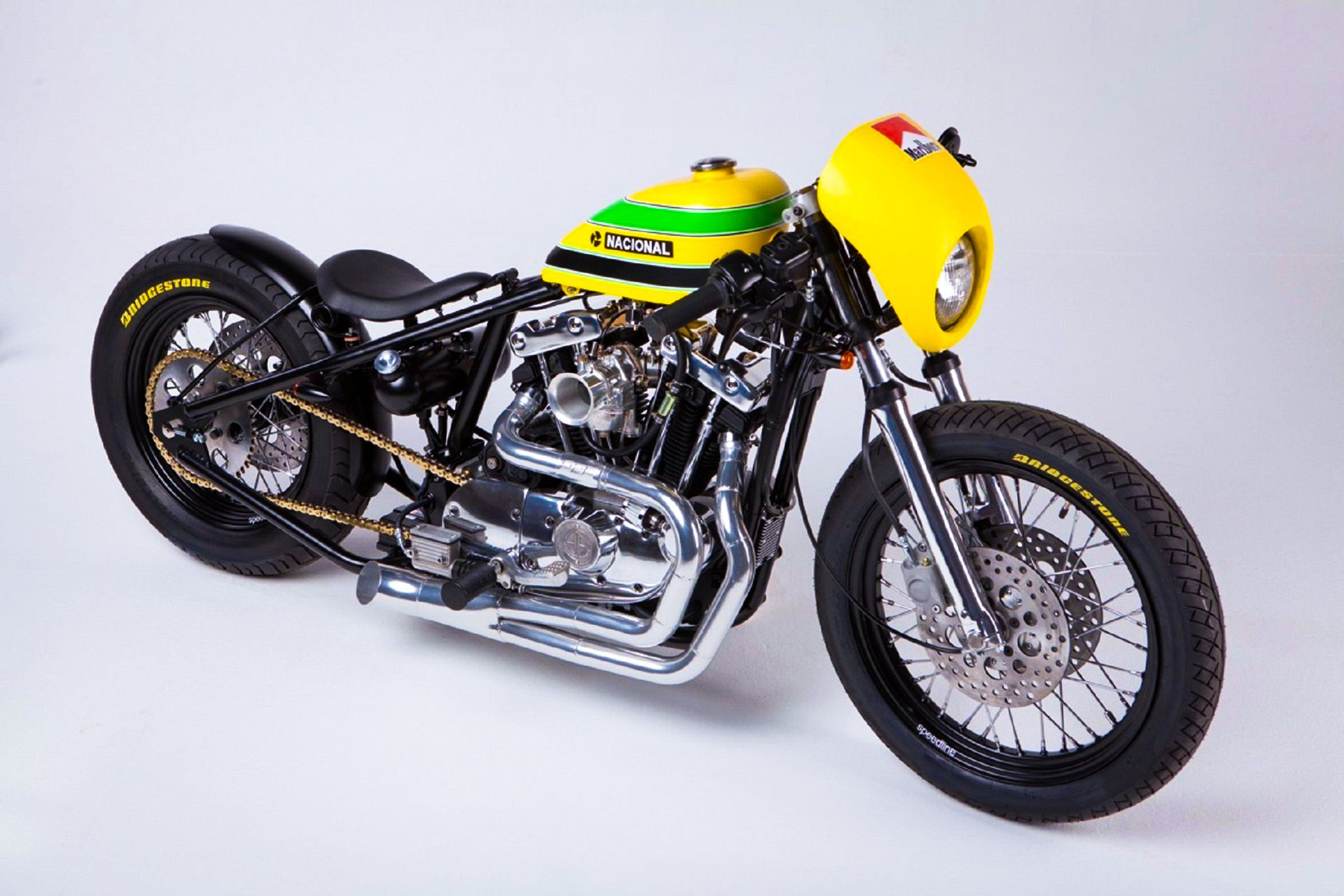Ayrton Senna Tribute Triumph Bonneville Bike by Tarso Marques!