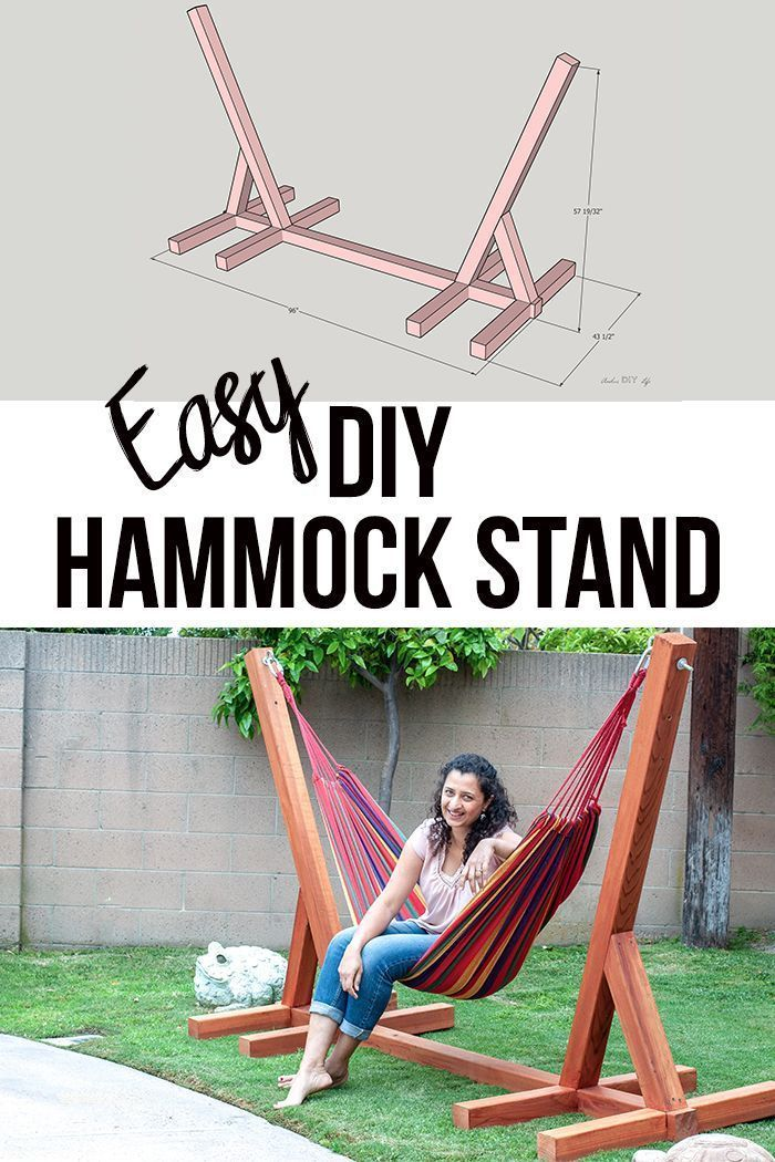 Photo of Easy DIY Hammock Stand Using 3 Tools – Full Tutorial, Video and Plans – #diy #ea…