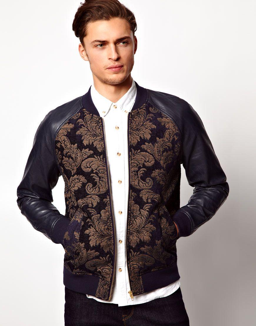 Men's Black Bomber Jacket | Men's fashion, Style men and Men wear