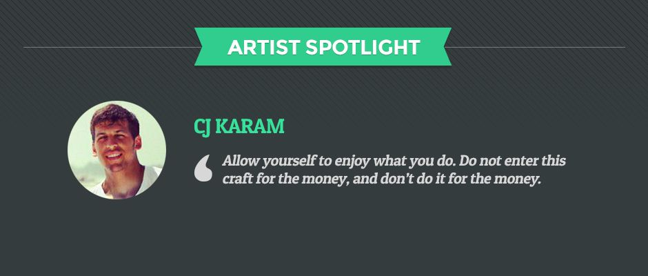 """The next artist we had the pleasure of spotlighting is CJ Karam. CJ reside in Clifton Park, New York where he obtained a Bachelor of Arts and Science degree concentrating in Art History while minoring in Fine Arts. He describes his work as, """"artwork that sometimes emits a dreamlike and hidden vision"""".  via: http://www.postervine.com/cj-karam-artist-spotlight-interview/"""