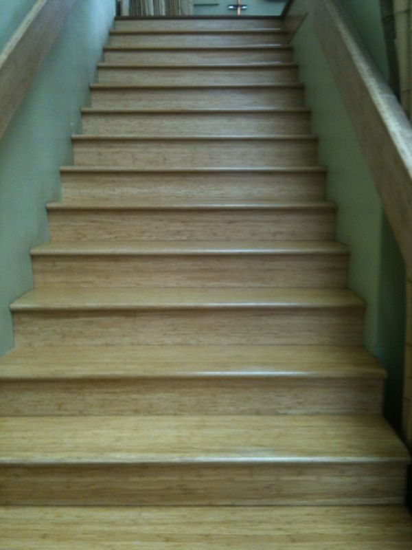 Bamboo Stairs. Stair Tread, Nose And Riser Available In Many Different  Bamboo Flooring Colors