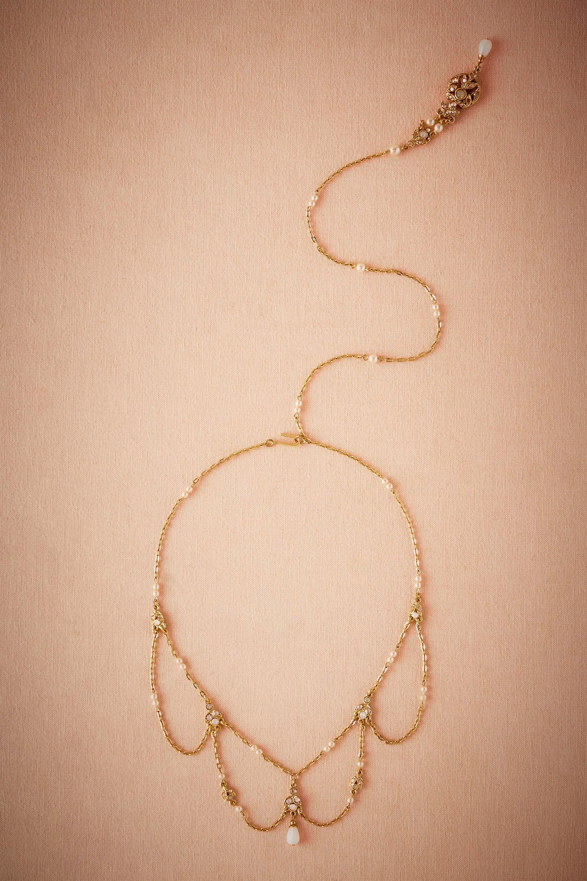 Thea Back Drop Necklace  from @BHLDN