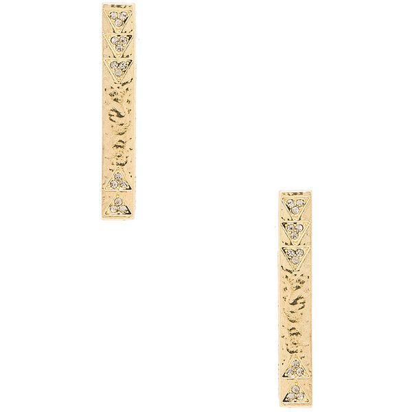 House Of Harlow Scutum Bar Earrings in Metallic Gold 0TIhal3