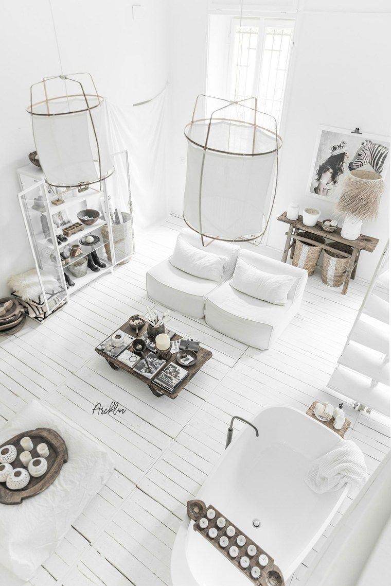 Pintura interior blanca para auténtica decoración tribal