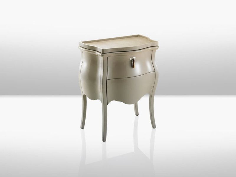 CANOVA NIGHTSTAND BY FENDI CASA | Luxury Bedside Table By Fendi Case With  Neutral Tones.