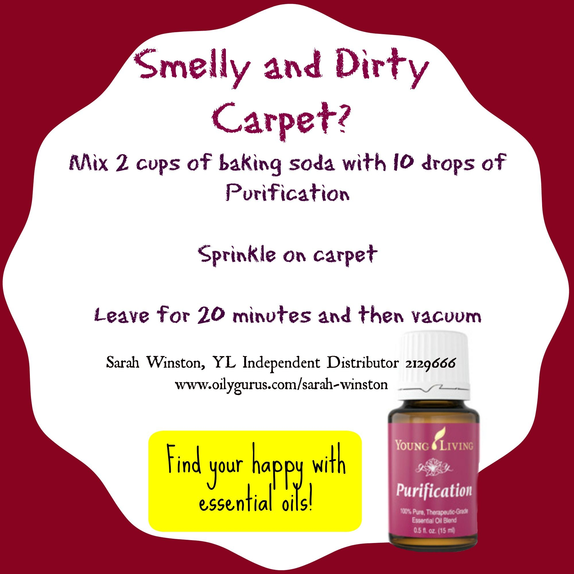 Smelly And Dirty Carpet Mix 2 Cups Of Baking Soda