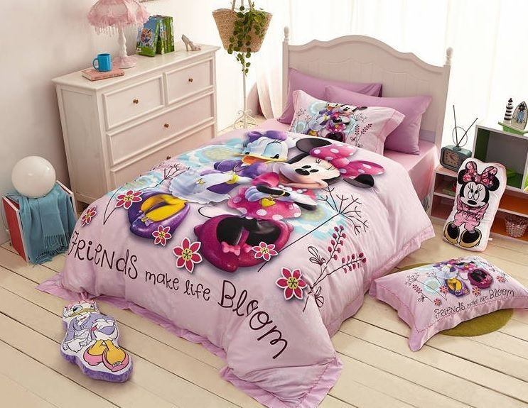 Minnie Mouse And Daisy Duck Cartoon Bedding Set Many Sizes