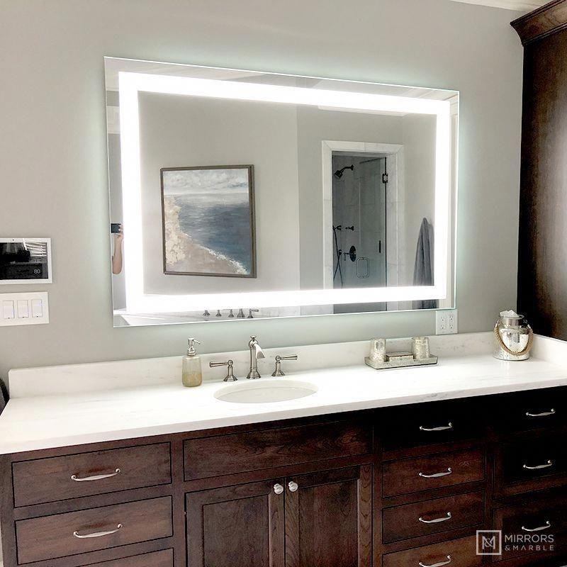 Lighted Led Bathroom Vanity Mirror, Bathroom Mirror 40 X 60