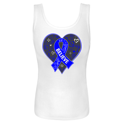 Get inspired for the cause with our line of Arthritis Believe Heart Ribbon Slogan Women's Tank Tops  #ArthritisAwareness
