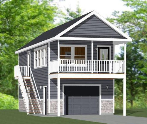 Details about 16x20 Tiny House -- 574 sq ft -- PDF Floor