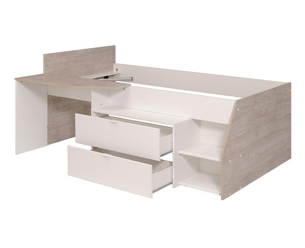 Parisot Milky Twin Low Loft Bed Reviews Wayfair Lits Sureleves Bas Lit Combine Styles De Chambres