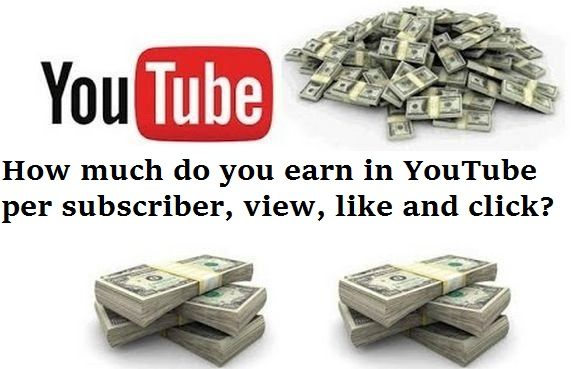 How much do you earn in #YouTube per subscriber, view ...
