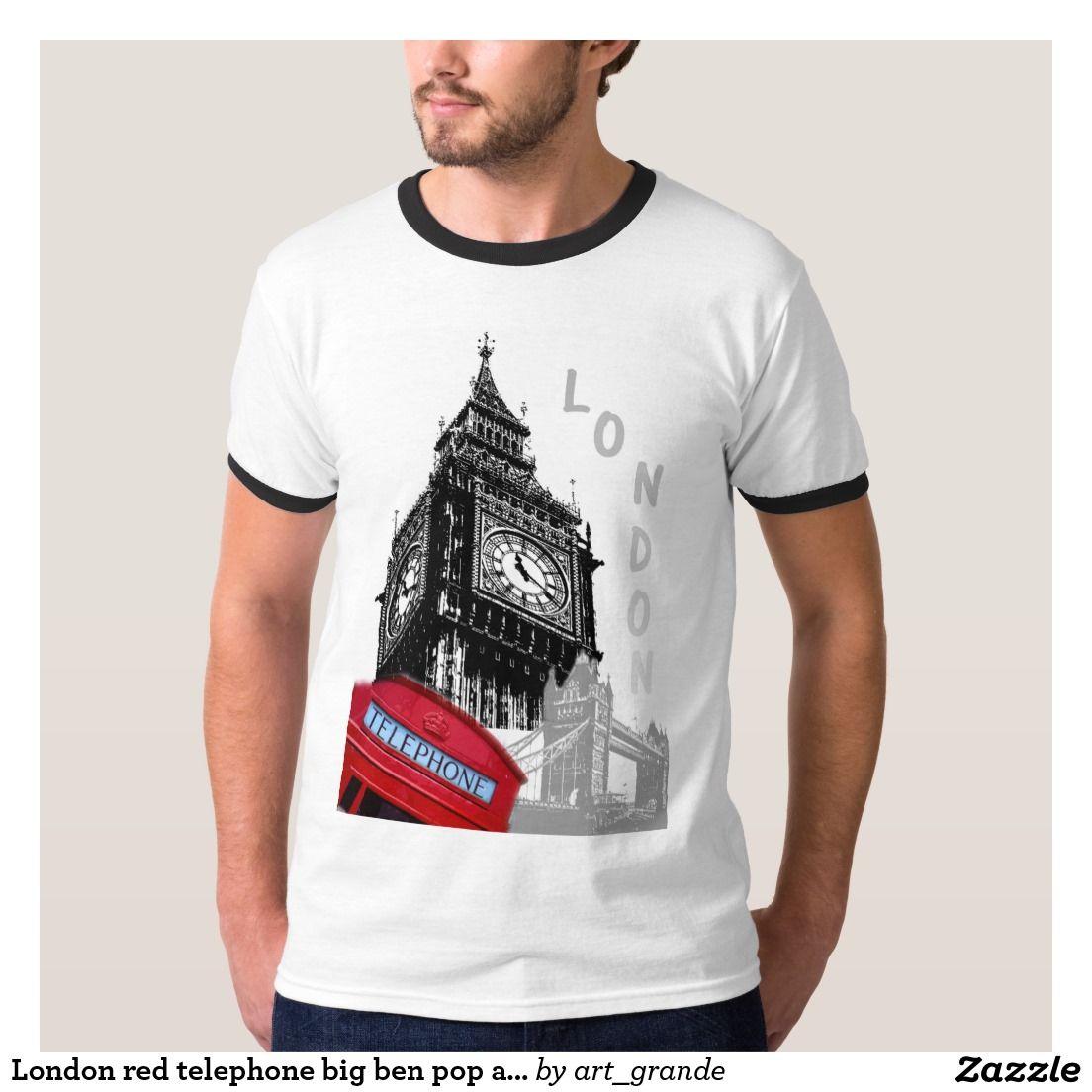 London red telephone big ben pop art t-shirt