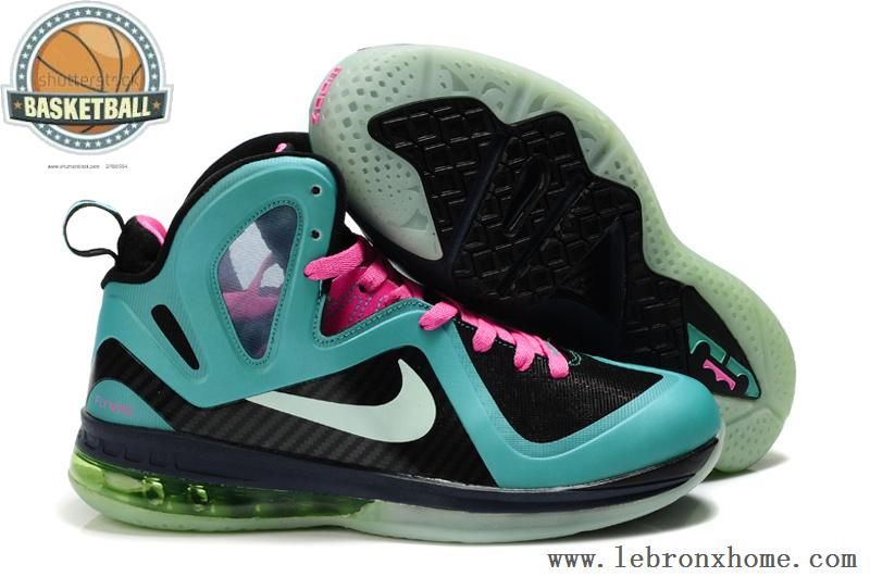 Cheap Lebron James 9 P.S. Elite Green Black Pink 516958 003