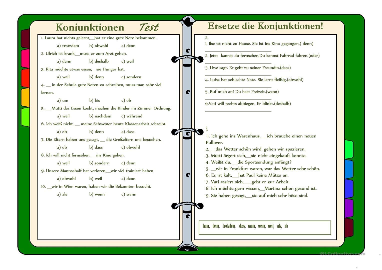 Konjunktionen | Niemiecki... | Pinterest | German