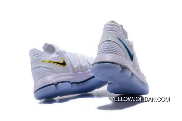 WomenMen Nike Kd 10 Numbers White Game Royal University