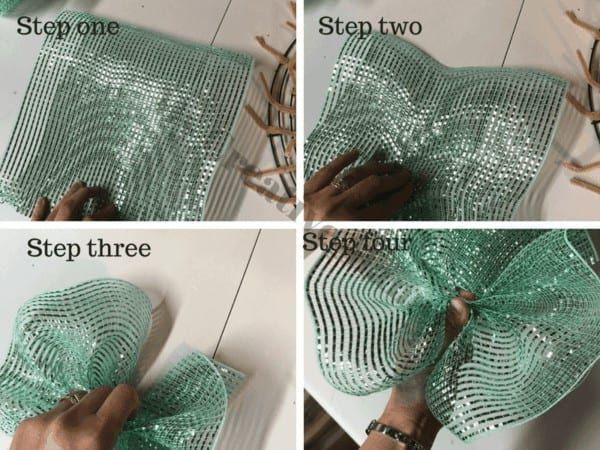 How to make a beautiful mesh wreath for your front door
